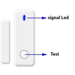 Capteur magnétique porté/fenêtre sans fil