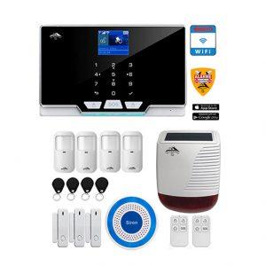 système-alarme avec sirène interne et externe